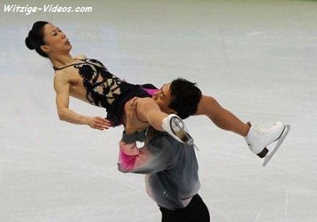 Muschi lecken beim Eiskunstlaufen
