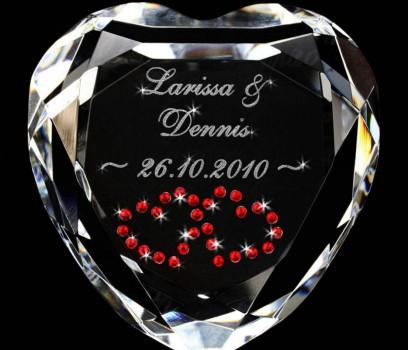 Diamant Herz mit gravur