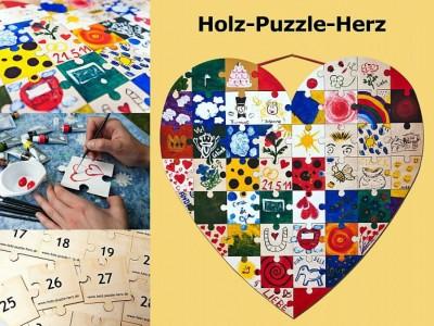Herz Puzzle aus Holz